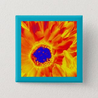日が差すことの花 5.1CM 正方形バッジ