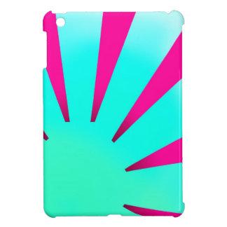 日が差すことのiPad Miniの場合のピンクおよびターコイズ iPad Mini カバー