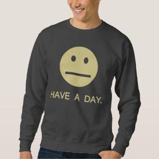 日のスマイリーフェイスを持って下さい スウェットシャツ