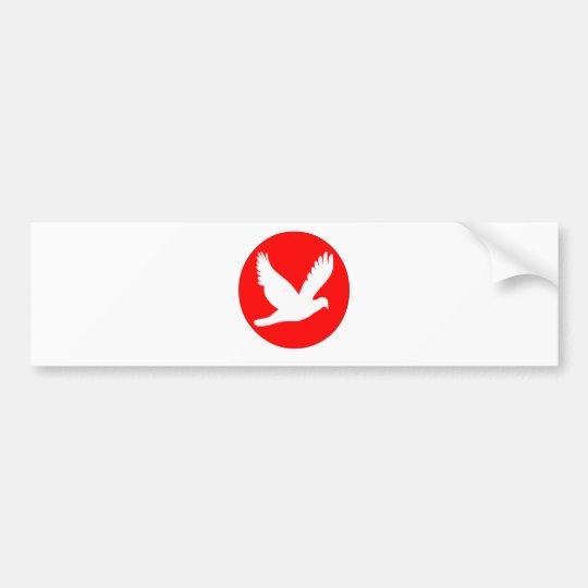 日の丸&鳩.png バンパーステッカー
