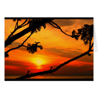 日の出からの日没への美しい記念日 カード