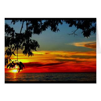 日の出からの日没への美しい記念日 グリーティングカード