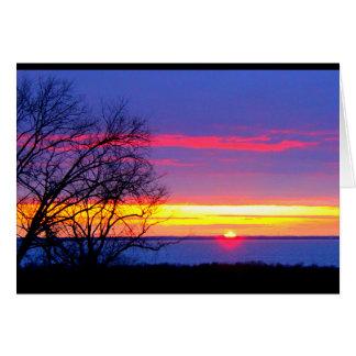 日の出からの日没への美しい誕生日 カード