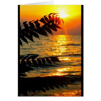 日の出からの日没への美しい誕生日! グリーティングカード