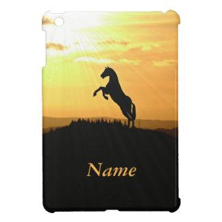 日の出でシルエットを育てている馬 iPad MINIカバー