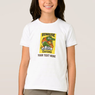 日の出のわに Tシャツ