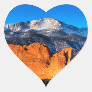日の出のアメリカの山 ハートシール