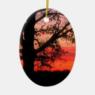 日の出のオークの木の夜明けOldham郡ケンタッキー セラミックオーナメント