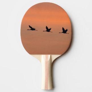 日の出のクレーン 卓球ラケット