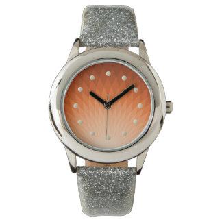 日の出のグリッターの腕時計 腕時計