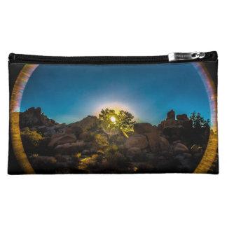 日の出のジョシュアTreeNational公園 コスメティックバッグ