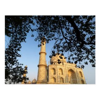 日の出のタージ・マハル。 アグラ、インド2008. ポストカード