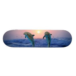 日の出のバンドウイルカ 20.6CM スケートボードデッキ