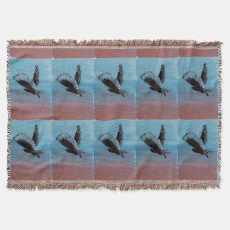 日の出のフクロウの芸術 スローブランケット