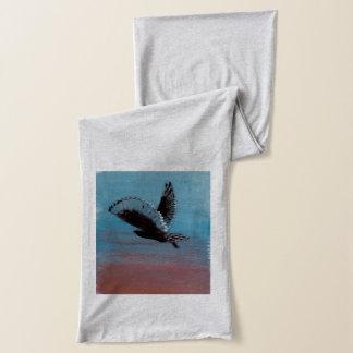 日の出のフクロウの鳥の芸術 スカーフ