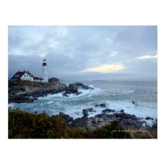 日の出のポートランドヘッド灯台 ポストカード