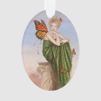 日の出のマダラチョウの妖精の楕円形のオーナメント オーナメント