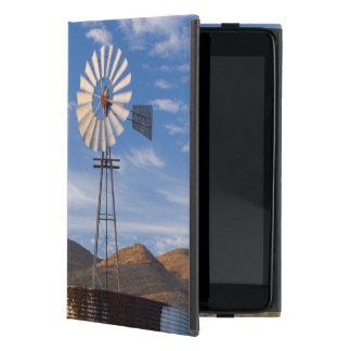 日の出の乾燥高原の風車そしてダム iPad MINI ケース