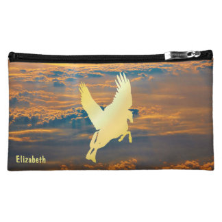 日の出の化粧品のバッグへのペガソスの飛行 コスメティックバッグ