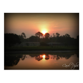 日の出の反射 はがき
