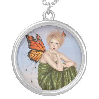 日の出の妖精のネックレス シルバープレートネックレス