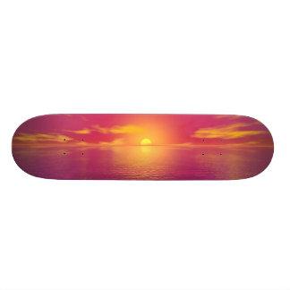 日の出の日没 スケートボード