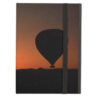 日の出の気球のシルエット iPad AIRケース