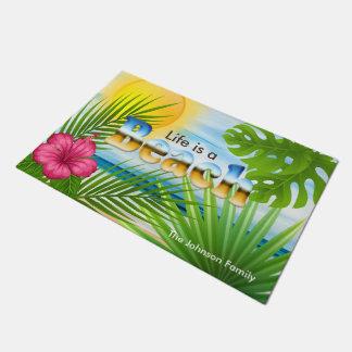 日の出の生命はビーチの熱帯デザインです ドアマット