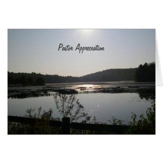 日の出の聖職者の感謝 カード