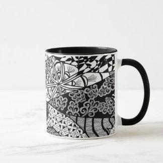日の出の落書きの芸術のマグ マグカップ
