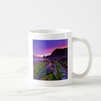 日の出の薄い紫色 コーヒーマグカップ