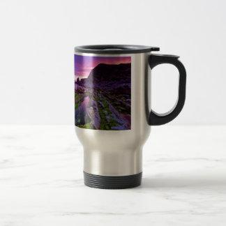 日の出の薄い紫色 トラベルマグ