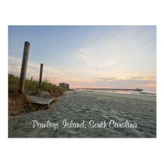 日の出のPawleysの島のサウスカロライナの郵便はがき ポストカード