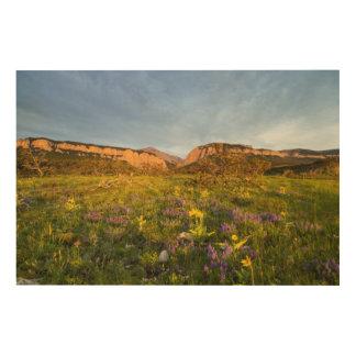 日の出はBlackleaf渓谷をつけます ウッドウォールアート