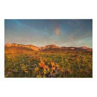 日の出はBlackleaf渓谷2をつけます ウッドウォールアート