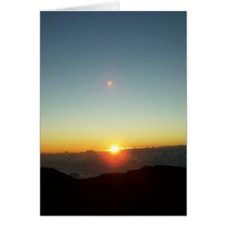 日の出上の土星 カード