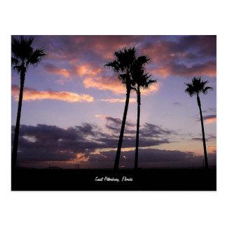 日の出、セント・ピーターズバーグ、フロリダの郵便はがき ポストカード