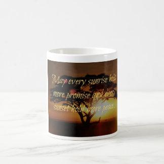 日の出、日没 コーヒーマグカップ