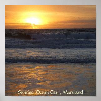 日の出、海都市、3月… ポスター