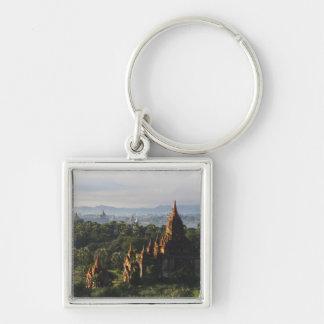 日の出、Bagan、ミャンマーの寺院 キーホルダー