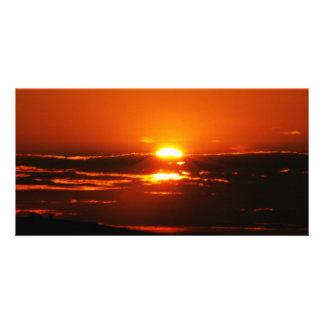 日の壊れ目として日の出 カード