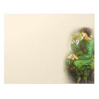 日の夢のラファエロ前の画家11X8.5のメモ帳 ノートパッド