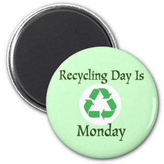 日の月曜日のメモの磁石のリサイクル マグネット
