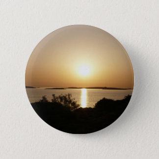 日の終わりのギリシャの日没ボタン 缶バッジ