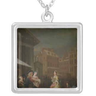 日の4時: 朝1736年 シルバープレートネックレス