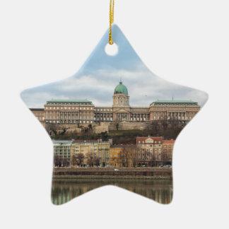 日のBudaの城ハンガリーブダペスト セラミックオーナメント