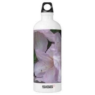 日のRhododendruonの曇った花 ウォーターボトル