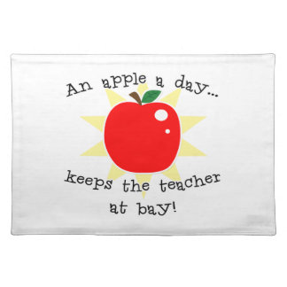 日りんごは湾で先生を保ちます ランチョンマット