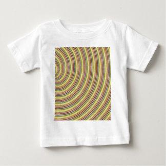 日を明るくするファンシーな渦巻の多彩なデザイン ベビーTシャツ