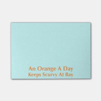 日オレンジは湾で壊血病を保ちます ポストイット